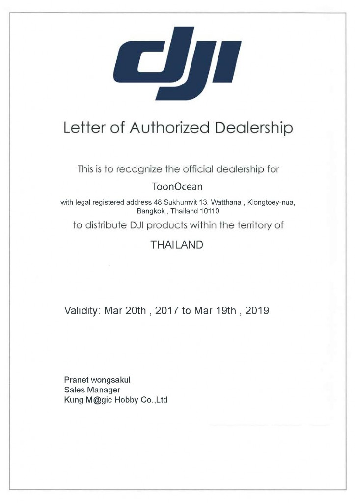 DJI Authorized Dealer Bangkok