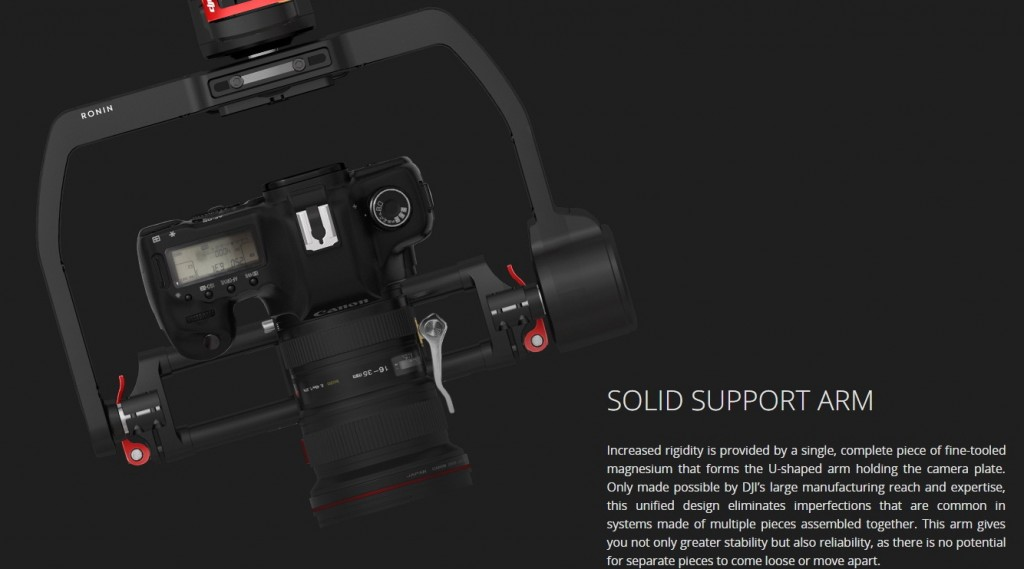 DJI Ronin M solid support