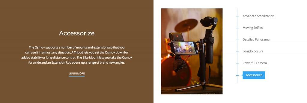DJI OSMO Plus accessories