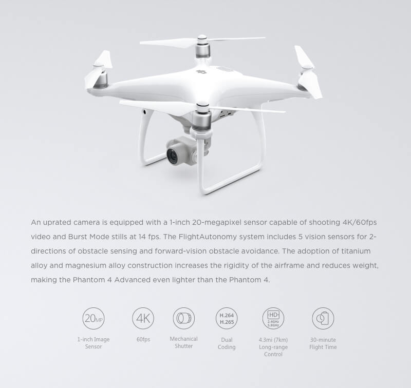 DJI phantom4 Advanced Camera