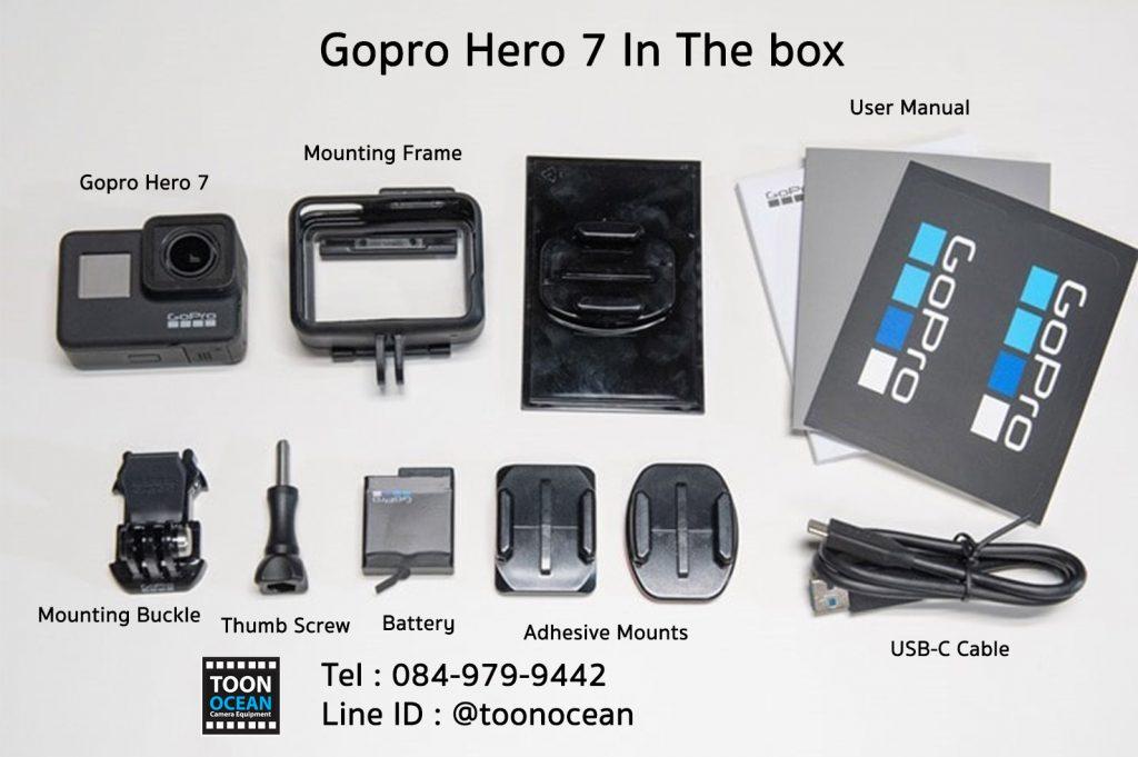 อุปกรณ์ gopro hero 7 ในกล่อง